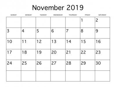 November 2019 1